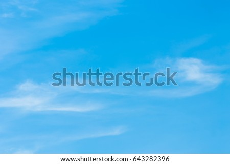 Cloud little late winter, shaped by the wind. - Shutterstock ID 643282396