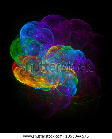 Cloud of imagination, abstract illustration #1053044675