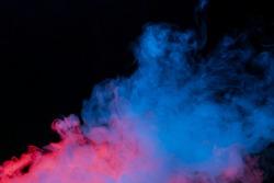 cloud of vapor. dark blue background. nobody. smoke. Underwater