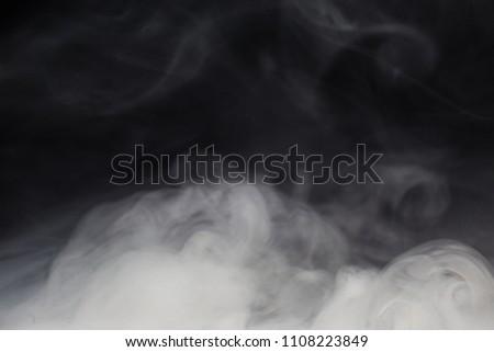 Cloud of white smoke on a black background closeup - Shutterstock ID 1108223849