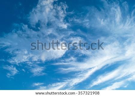 cloud on blue sky - Shutterstock ID 357321908