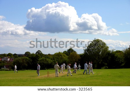 Cloud over cricket match