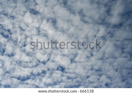 Cloud pattern, floccus clouds
