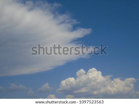 Cloud shapes Eastern Washington State Spring #1097523563