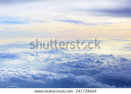 Cloud sky in heaven as background