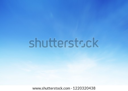 Cloud sky sunrise during morning background. Blue pastel heaven,soft focus lens flare sunlight. Abstract blurred white cyan gradient of peaceful nature. Open view windows beautiful summer spring