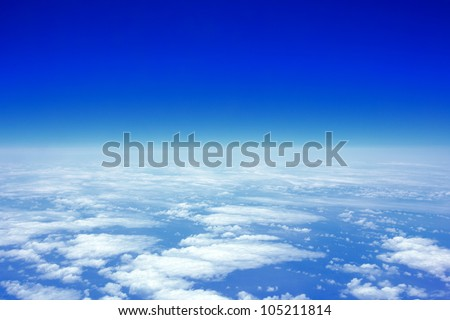 cloud sky view from above