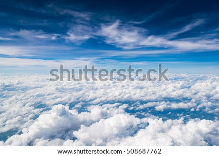 Cloud texture and blue sky #508687762