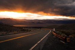 cloud wall in death valley national park