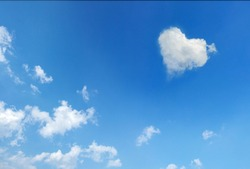 Cloud with a shape of heart a concept for love and beautiful day for lover