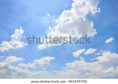 Cloud with blue sky natural background. #464599700