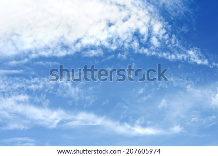 Cloud with blue sky use for nature wallpaper background and texture