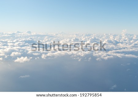 cloud with the sky