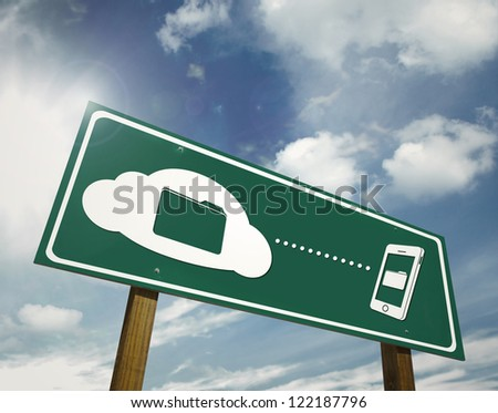 clouding file sharing sign board