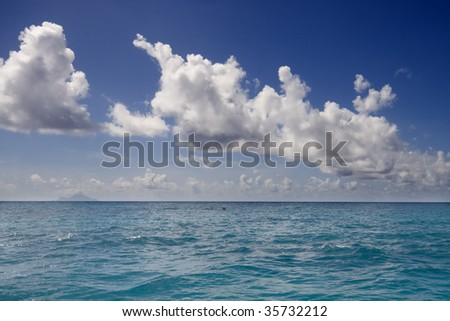 Clouds above a tropical sea