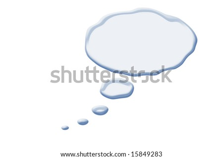 clouds abstract of comic thoughts isolated against white background