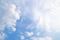 Clouds And Blue Sky For Background