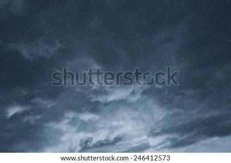 clouds and rain