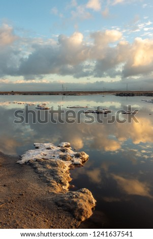 Clouds and reflection along the bay, Bayfront Park, California #1241637541