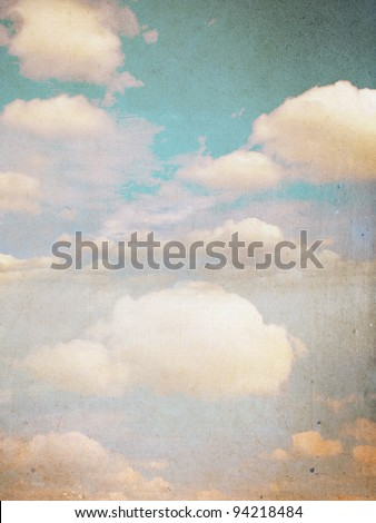 Clouds and sky, grunge background