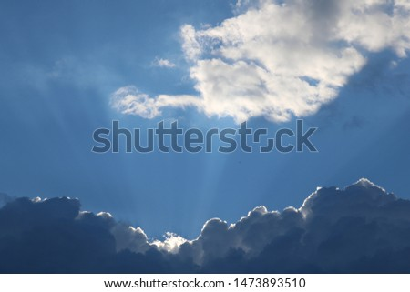 Clouds and sunbeams in Massachusetts #1473893510