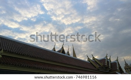 clouds and temple #746981116