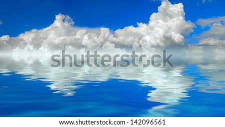 clouds and water background panorama