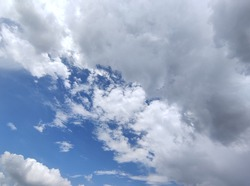 Clouds are familiar during the day, usually during fair weather