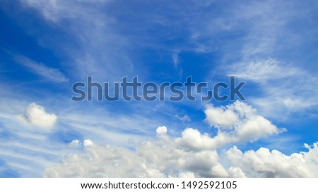 Clouds blue sky High angle air background #1492592105