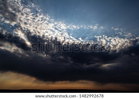 Clouds, blue sky, sunrise or sunset #1482992678