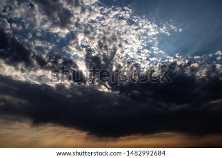 Clouds, blue sky, sunrise or sunset #1482992684