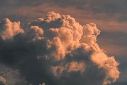 Clouds cumulus nimbus precipitation at cloudy sky in Brazil South America