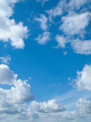 Clouds floating in blue sky