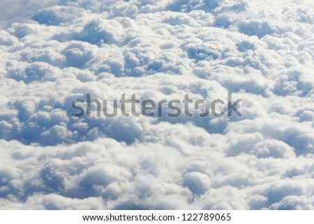 Clouds fluffy background