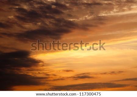 Clouds from a sunrise sky