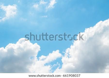 clouds in a bright sunny sky