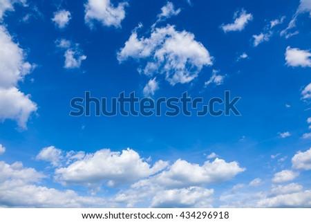 Clouds in  blue sky, blue sky with clouds, blue sky with fluffy clouds close, soft white clouds in blue sky
