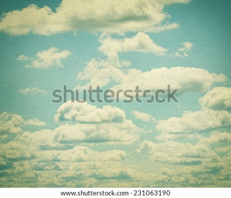 Clouds in blue sky. Sunny time of day.