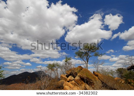 clouds in the African savanna