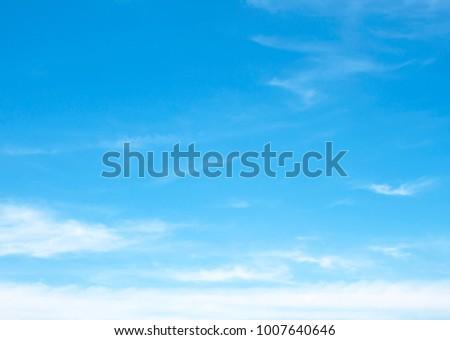 clouds in the blue sky - Shutterstock ID 1007640646