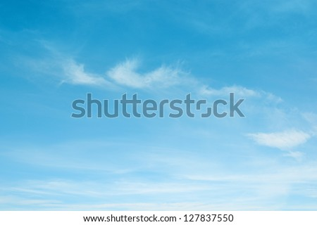 clouds in the blue sky #127837550