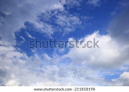 clouds in the blue sky  #211858198