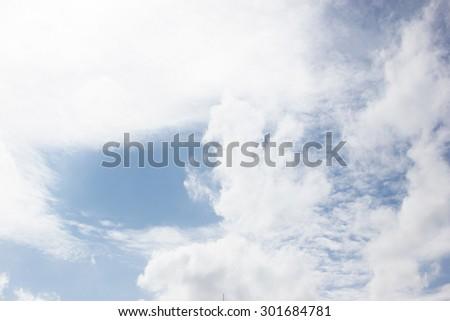 clouds in the blue sky. - Shutterstock ID 301684781