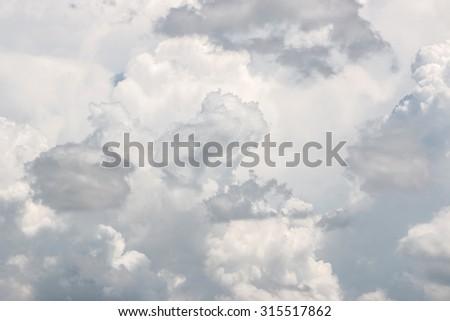 clouds in the blue sky - Shutterstock ID 315517862
