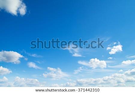 clouds in the blue sky #371442310
