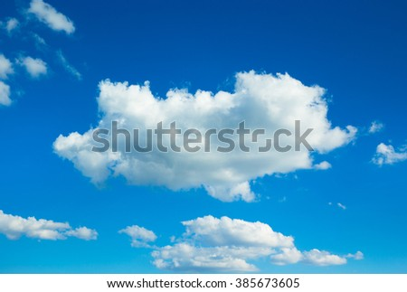 clouds in the blue sky #385673605