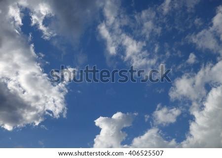 Clouds in the blue sky #406525507