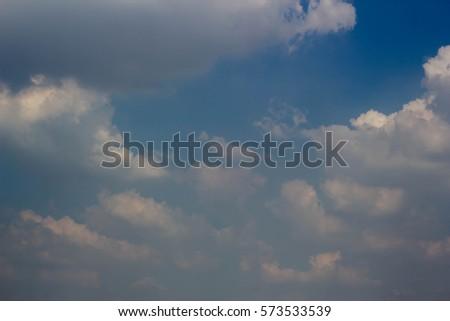 clouds in the blue sky #573533539