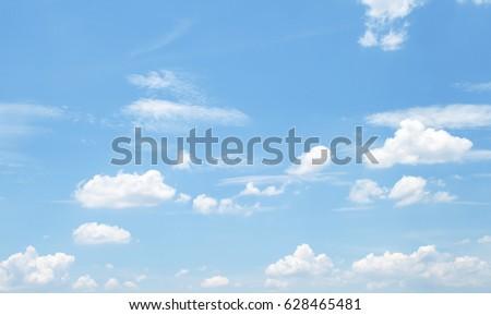 clouds in the blue sky #628465481