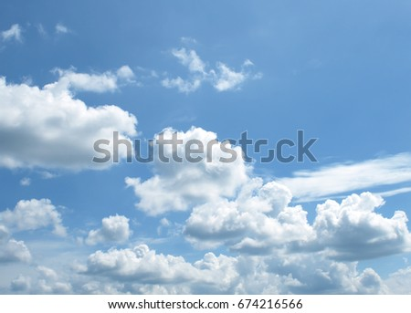 clouds in the blue sky #674216566